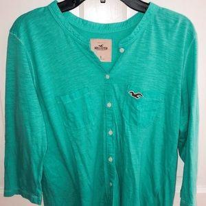 Hollister Green Long Sleeve Shirt